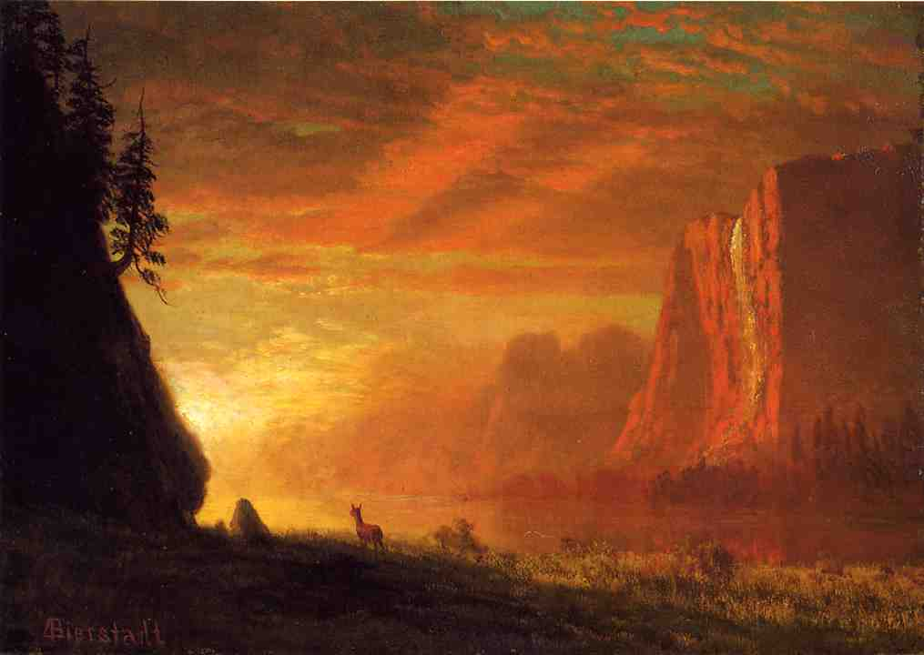 Bierstadt_Albert_Deer_at_Sunset